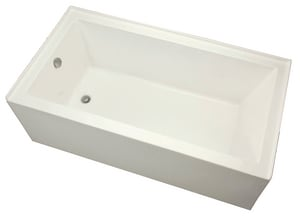 Mirabelle® Edenton 60 x 30 in. Right-Hand Bath Tub with Skirt in Biscuit MIREDS6030RBS
