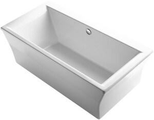 Kohler Stargaze 72 X 36 In Freestanding Bathtub With Center Drain In White 6367 0 Ferguson
