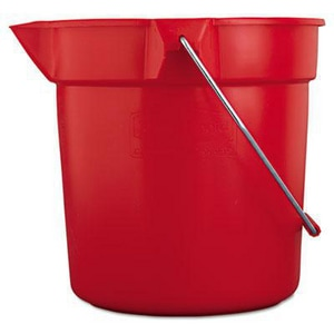 Rubbermaid Brute® 10 qt Red Plastic Mop Bucket RFG296300RED
