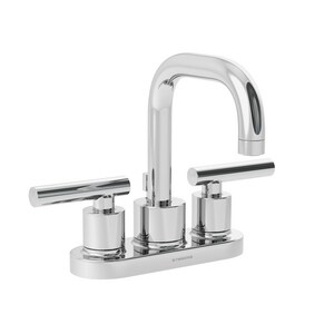Symmons Industries Dia™ 1.5 gpm Centerset Lavatory Faucet with Double Lever Handle in Polished Chrome SYMSLC351215