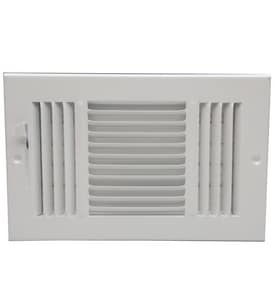 PROSELECT® 8 in. Ceiling & Sidewall Register Residential in White 3-way Steel PS3WWML14