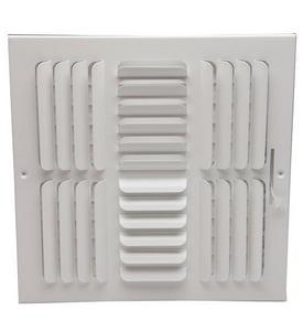 PROSELECT® 12 x 12 in. Steel Ceiling/Sidewall Register in White PS4CWML1212