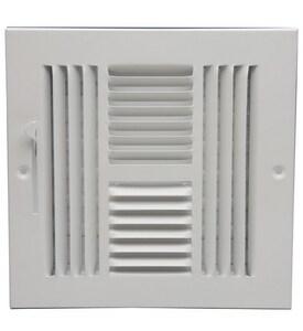 PROSELECT® 8 x 8 in. Residential Ceiling & Sidewall Register in White 4-way Steel PS4WWMLXX