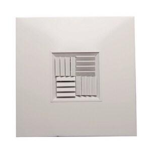 PROSELECT® 12 x 12 in. Ceiling Diffuser in White Aluminum PSAMCTBSBOBD1212