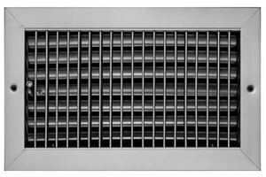 PROSELECT® 6 x 6 in. Commercial Ceiling & Sidewall Register in White Steel PSVOBWUU