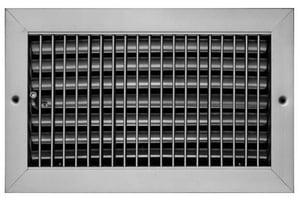 PROSELECT® 20 x 6 in. Commercial Ceiling & Sidewall Register in White Steel PSVOBW20U