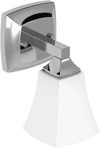 Moen Voss™ 100W Wall Sconce Bath Light Fixture in Polished Chrome MYB5161CH
