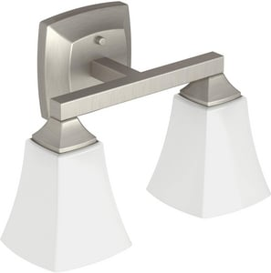 Moen Voss™ 2-Globe Light Fixture in Brushed Nickel CSIYB5162BN