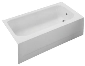 PROFLO® Folsom 54 x 30 x 15-1/4 in Soaker Alcove Bathtub in White PFB54LWH