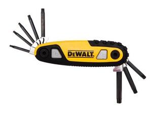 DEWALT Plastic and Steel Folding and Locking Hex Key Set DDWHT70264
