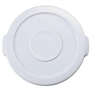 Rubbermaid Brute® 10 gal Container Lid in White RFG260900WHT