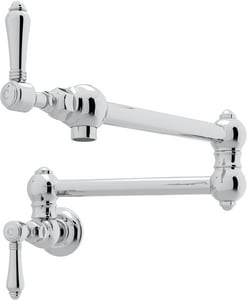 ROHL® Italian Country Kitchen Two Handle Lever Handle Pot Filler in Polished Chrome RA1451LM2