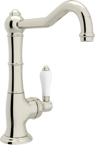 ROHL® Perrin & Rowe® Country Kitchen 1-Hole Deckmount Bar Faucet with Single Lever Handle in Polished Nickel RA365065LPPN2