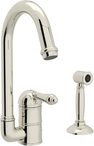 ROHL® Perrin & Rowe® Country Kitchen 1-Hole Deckmount Bar Faucet with Single Lever Handle in Polished Nickel RA360665LMWSPN2