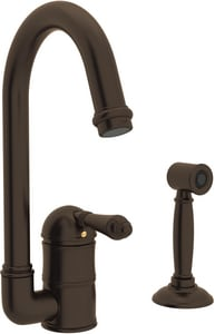 ROHL® Perrin & Rowe® Country Kitchen 1-Hole Deckmount Bar Faucet with Single Lever Handle in Tuscan Brass RA360665LMWSTCB2