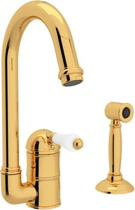 ROHL® Perrin & Rowe® Country Kitchen 1-Hole Deckmount Bar Faucet with Single Lever Handle in Inca Brass RA360665LPWSIB2