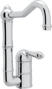 ROHL® Perrin & Rowe® Country Kitchen 1-Hole Deckmount Bar Faucet with Single Lever Handle in Polished Chrome RA360865LMAPC2