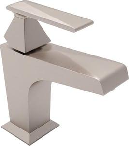 ROHL® Vincent Single Handle Monoblock Bathroom Sink Faucet in Satin Nickel RA3002LVSTN2