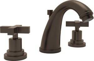 ROHL® Avanti 3-Hole Deckmount Widespread Lavatory Faucet with Double Metal Cross Handle in Tuscan Brass RA1208XMTCB2