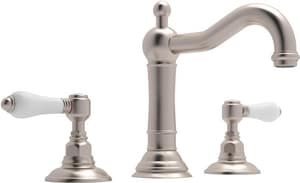 Rohl Country Bath 3-Hole Deckmount Widespread Lavatory Faucet with Double Porcelain Lever Handle RA1409LP2