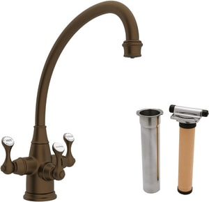 ROHL® Perrin & Rowe® 1-Hole Kitchen Faucet with Triple Lever Handle in English Bronze RUKIT1420LSEB2