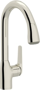 ROHL® De Lux Pull-Down Bar Faucet with Single Lever Handle in Polished Nickel RR7506S2