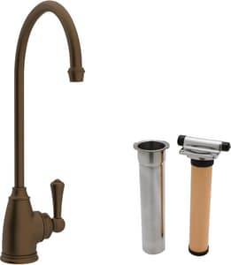 ROHL® Perrin & Rowe® Filtration Cold Filter Faucet with Single Metal Lever Handle and 5-3/4 in. Spout Reach in English Bronze RUKIT1625LEB2