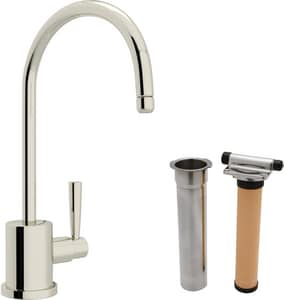 ROHL® Perrin & Rowe® Cold Filter Faucet with Single Lever Handle and 6 in. Spout Reach in Polished Nickel RUKIT1601LPN2