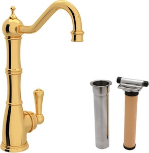 ROHL® Perrin & Rowe® Single Lever Handle Cold Filter Faucet in Inca Brass RUKIT1621LIB2