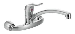 Moen M-Bition™ 2-Hole Swivel Kitchen Faucet with Single Lever Handle in Polished Chrome M8714