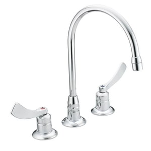 Moen M-Dura™ 1.5 gpm 3-Hole Widespread Bathroom Faucet with Double Wristblade Handle in Polished Chrome M8225SMF15