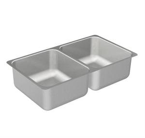 Moen 2000 Series 31-1/4 x 18 in. Stainless Steel Double Bowl Undermount Kitchen Sink MG20210