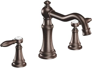 Moen Weymouth® Two Handle Roman Tub Faucet in Oil Rubbed Bronze Trim Only MTS22103ORB