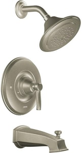 Moen Rothbury™ Single Handle Single Function Bathtub & Shower Faucet in Brushed Nickel Trim Only MTS2213EP