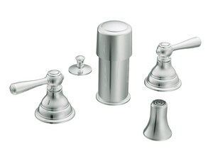 Moen Kingsley™ Double Lever Handle Bidet Faucet Trim Kit in Polished Chrome MT5210