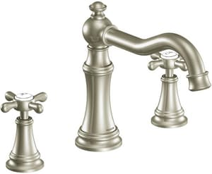 Moen Weymouth® Two Handle Roman Tub Faucet in Brushed Nickel Trim Only MTS22101BN