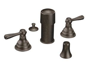 Moen Kingsley™ Double Lever Handle Bidet Faucet Trim Kit in Oil Rubbed Bronze MT5210ORB