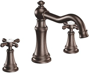 Moen Weymouth® Two Handle Roman Tub Faucet in Oil Rubbed Bronze Trim Only MTS22101ORB