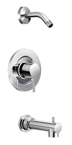 Moen Align™ Single Handle Bathtub & Shower Faucet in Polished Chrome Trim Only MT2193NH