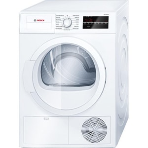 Bosch 33-1/4 in. 4 cf Electric Compact Condensation Dryer in White BWTG86400UC
