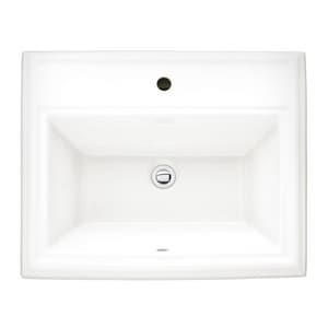 American Standard Town Square® Self-rimming/Drop-in Bathroom Sink in White A0700001020