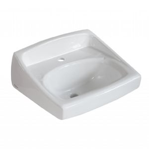 American Standard Lucerne™ Wall Mount Bathroom Sink in White A0356137020