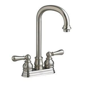 American Standard Hampton Two Handle Lever Handle Bar Faucet in Brushed Nickel A2770732295