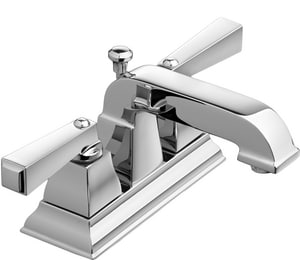 American Standard Town Square® 1.2 gpm Double Lever Handle Centerset Lavatory Faucet in Polished Chrome A2555201002