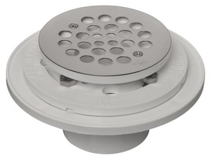 Weld-On® Water Tite 2 in. Push On Plastic White Shower Drain I85980