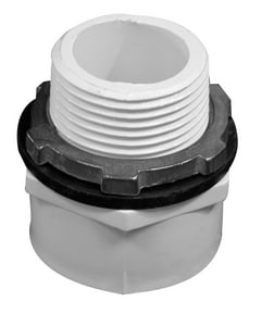 Weld-On® 1 x 1-1/2 in. Male Combination Adapter Drain Kit in White I88350
