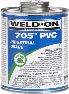 Weld-On® C-65™ 1 qt Plastic Clear Pipe Cement I10091