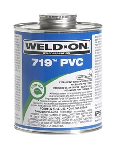 Weld-On® 719™ 1 gal Regular Set Plastic White Pipe Cement I10155