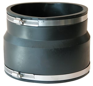 Fernco 10 x 6 in. Asbestos Cement Fiber and Ductile Iron x Cast Iron and PVC Flexible Coupling F1051106