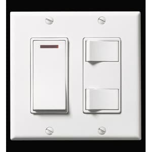 Broan Nutone 2-Gang Control with Pilot Light Switch in White B685WL
